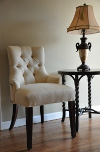 Tufted chair by Morgan Chair