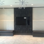Custom upholstered wall